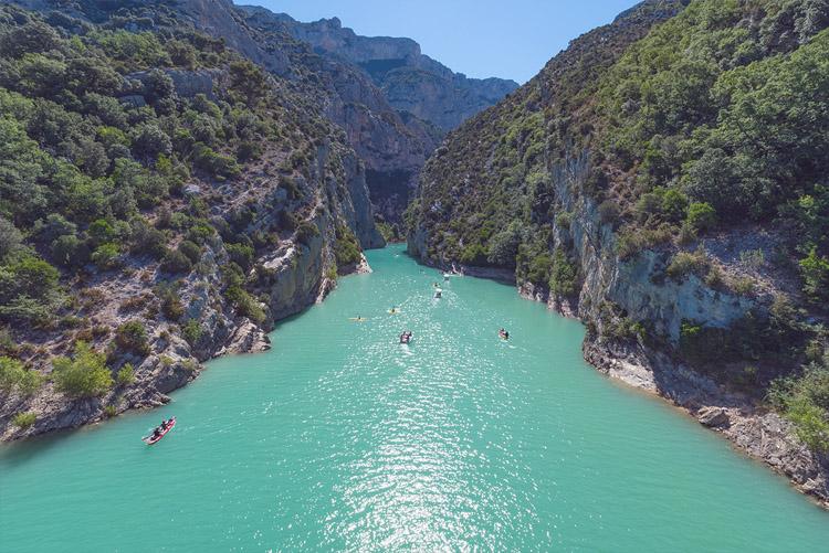Blick auf die Verdonschlucht (Gorges du Verdon), Provence