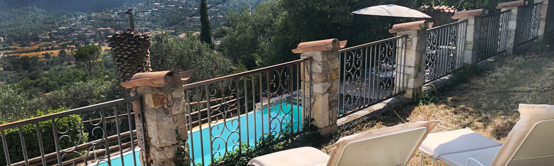 Ferienhaus Villa Seillans - Aussicht Pool